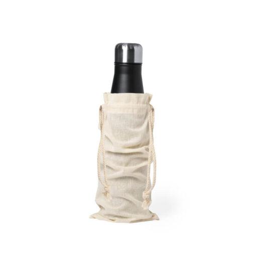 Bolsa de algodão com atilhos para garrafas