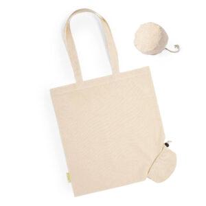 Saco reutilizável de algodão orgânico com bolsa