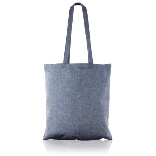 Saco azul reutilizável de algodão reciclado