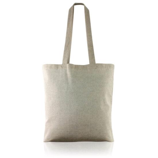 Saco cinzento reutilizável de algodão reciclado