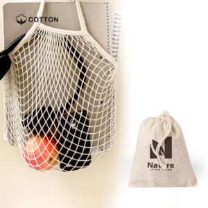 Saco de rede reutilizável de algodão para mercearias