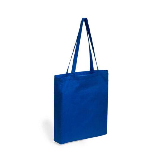 Saco azul reutilizável de algodão
