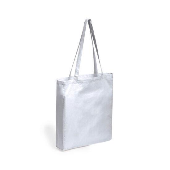 Saco branco reutilizável de algodão