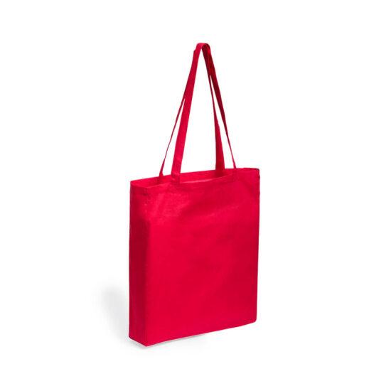 Saco vermelho reutilizável de algodão