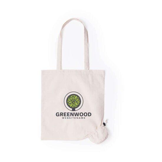 Saco reutilizável de algodão com bolsa personalizável