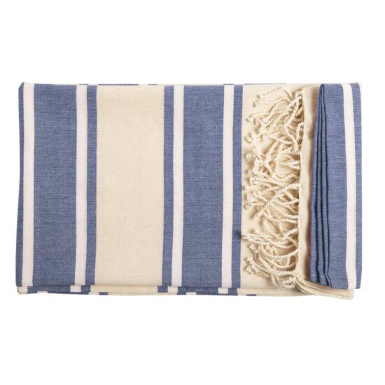 Pareo toalha azul de algodão orgânico