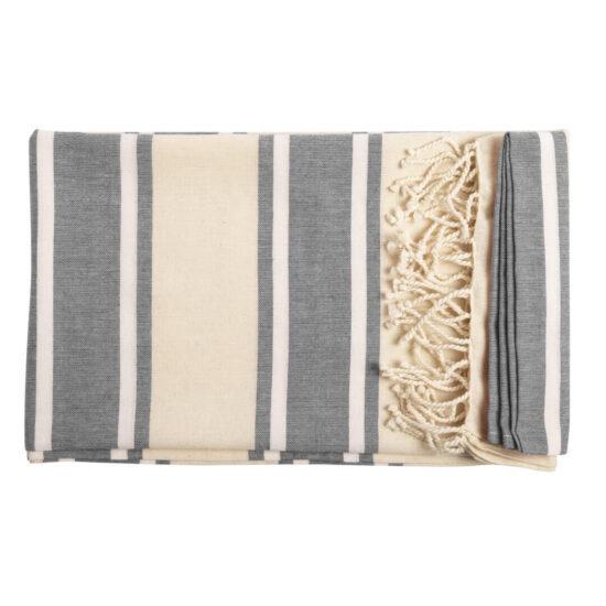 Pareo toalha cinzento de algodão orgânico