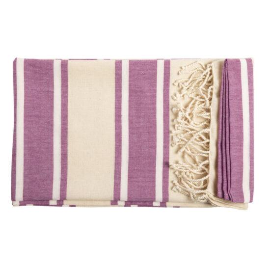 Pareo toalha lilás de algodão orgânico