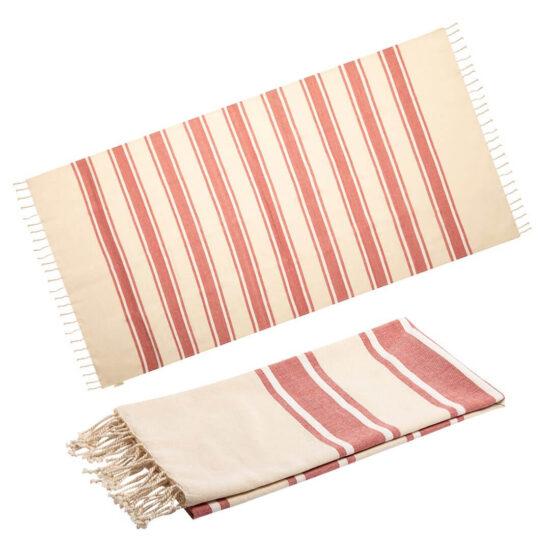 Pareo toalha vermelho de algodão orgânico