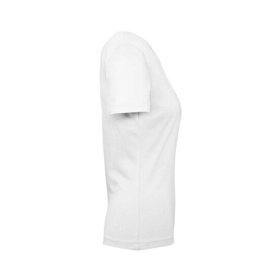 T-shirt de senhora branca de algodão orgânico