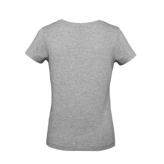 T-shirt de senhora cinzenta de algodão orgânico