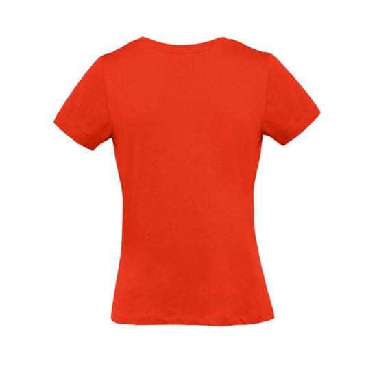 T-shirt de senhora laranja de algodão orgânico