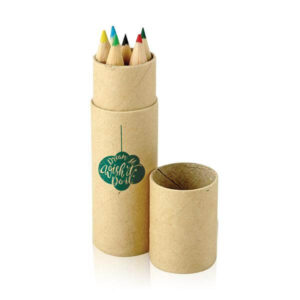 Tubo de cartão de lápis de cor personalizável