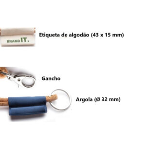 Fita lanyard porta-chaves ecológica de cortiça