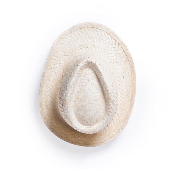 cimo de chapéu de palha branco personalizado