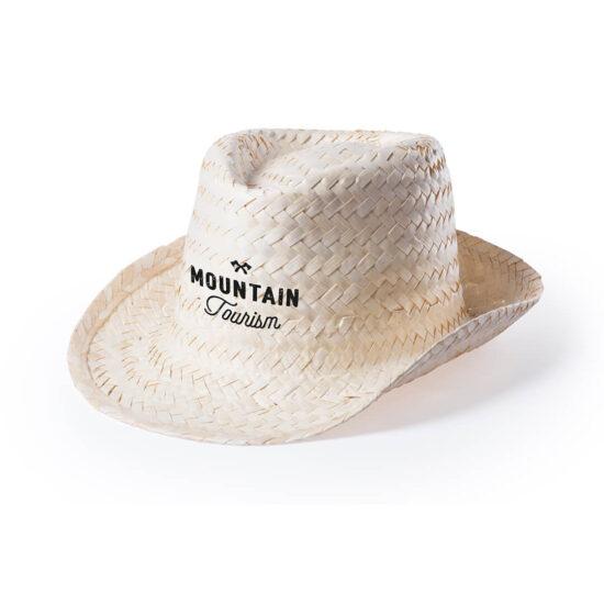 chapéu de palha branco personalizado