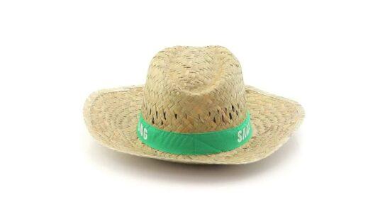 chapéu de palha com fita verde