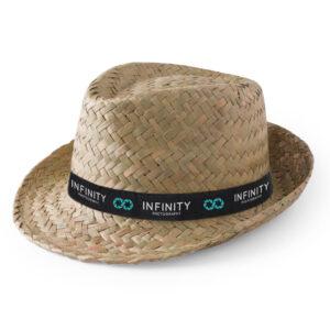 chapéu de palha bege