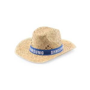 chapéu de palha com fita azul