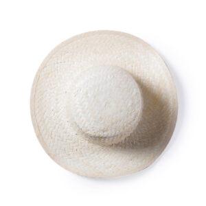 cimo de chapéu de palha branco