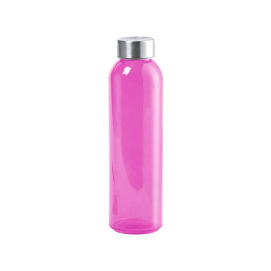 garrafa rosa de vidro cristal reutilizável