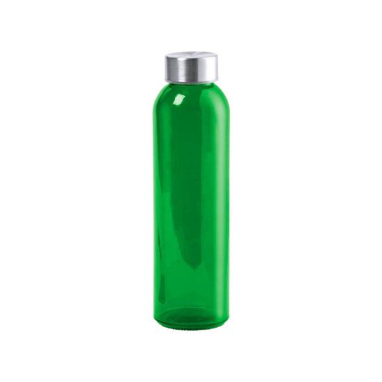 garrafa verde de vidro cristal reutilizável