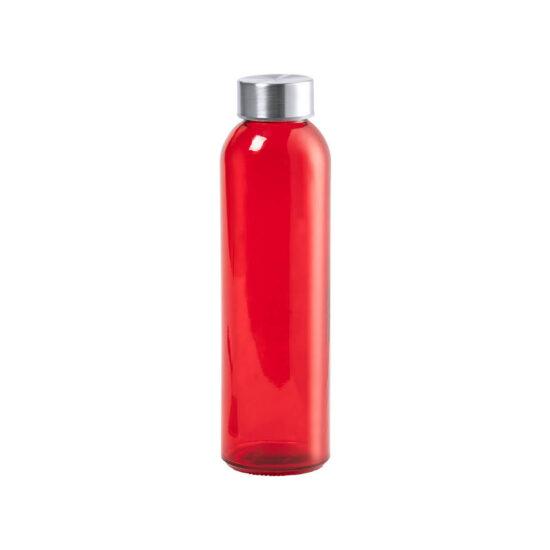 garrafa vermelha de vidro cristal reutilizável