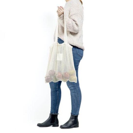 saco de rede de algodão para mercearias