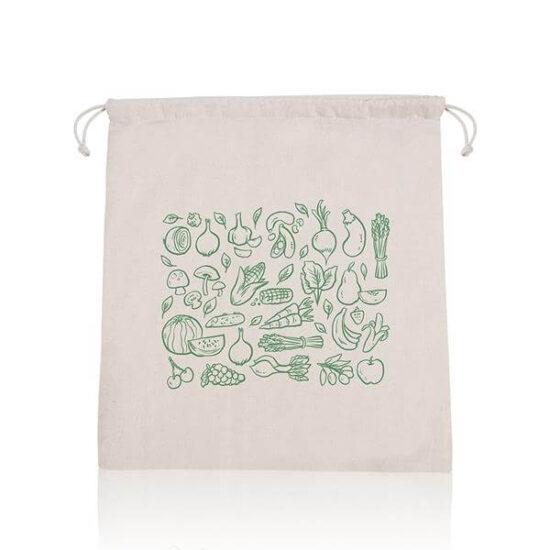 saco de rede de algodão com atilhos personalizado