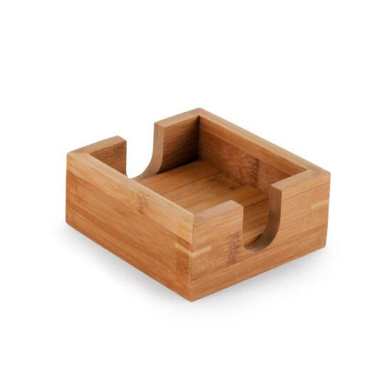 caixa para bases de copos em bambu