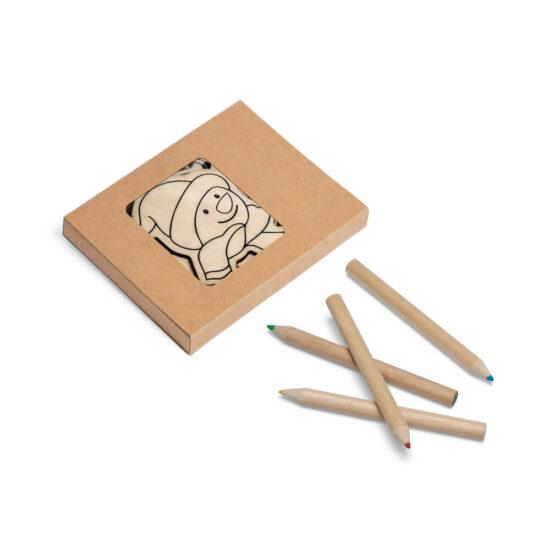 caixa com figuras decorativas de natal para pintar