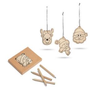 conjunto de figuras decorativas de natal