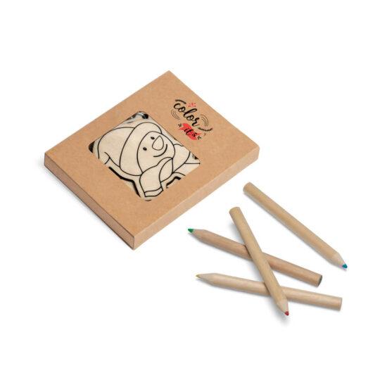 caixa personalizada com figuras decorativas de natal para pintar