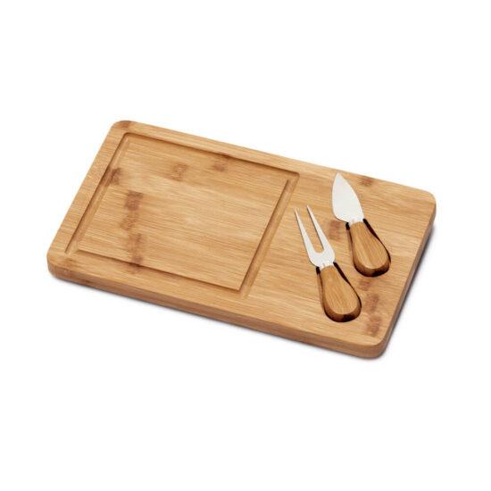 tábua de queijos de bambu