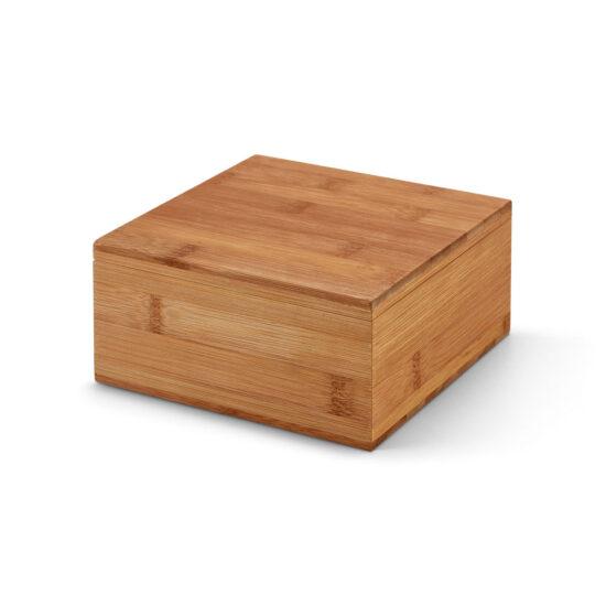 caixa de chás de bambu fechada