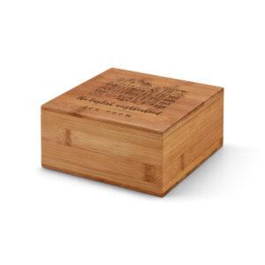 caixa de chás de bambu personalizada a laser