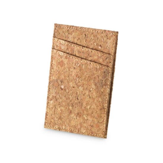 porta-cartões de cortiça