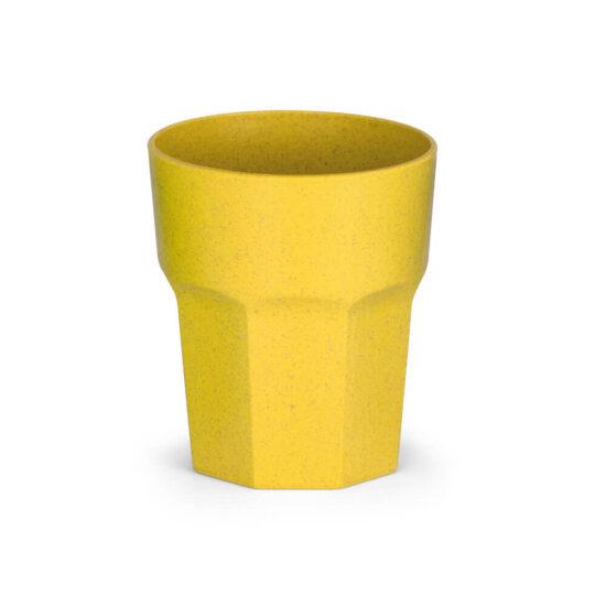copo de fibra de arroz amarelo