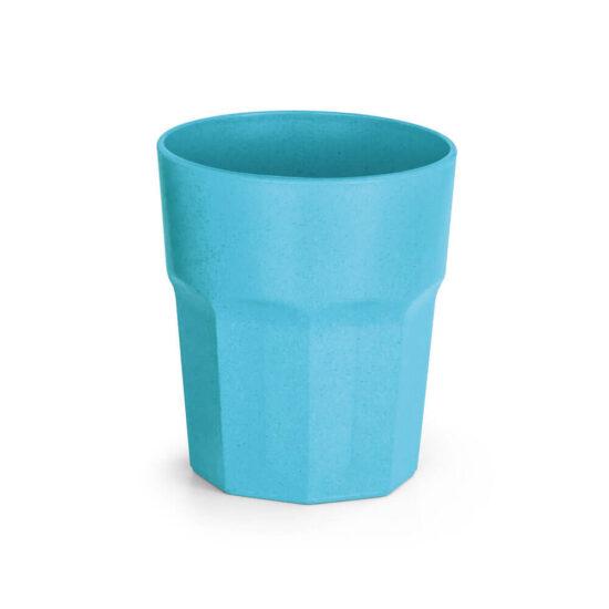 copo de fibra de arroz azul