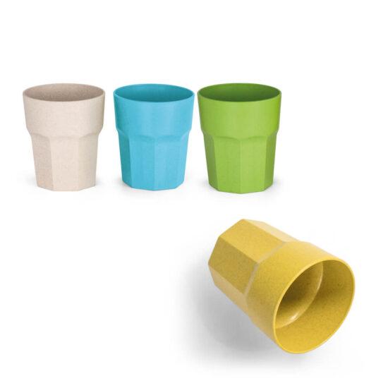 copos coloridos de fibra de arroz