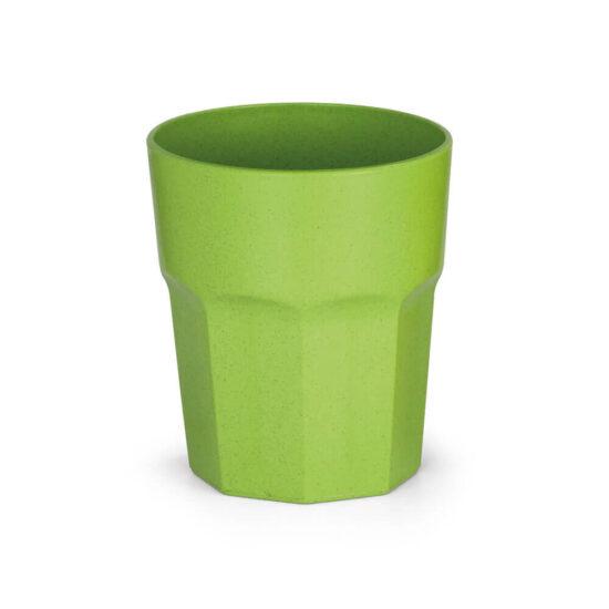 copo de fibra de arroz verde
