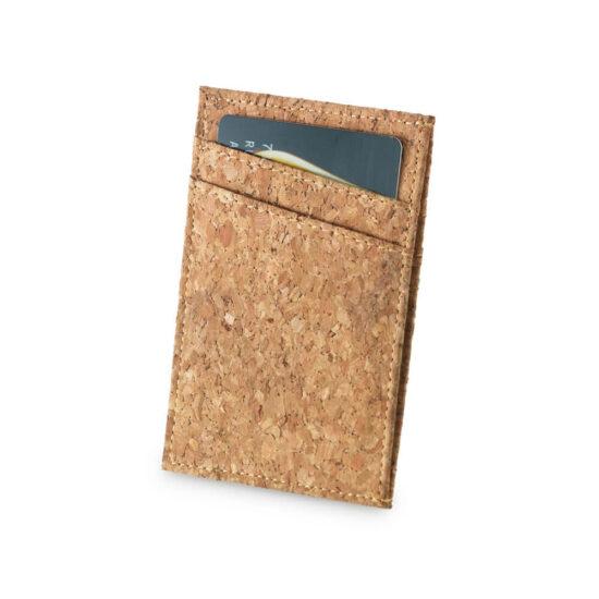 porta-cartões de cortiça com divisórias