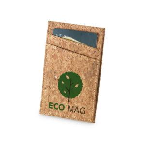 porta-cartões de cortiça personalizado