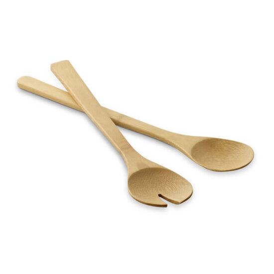 talheres de bambu para salada
