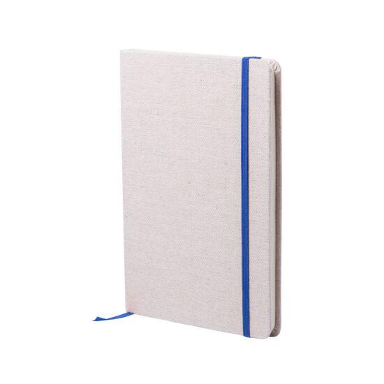 bloco de notas a5 azul com capas em algodão