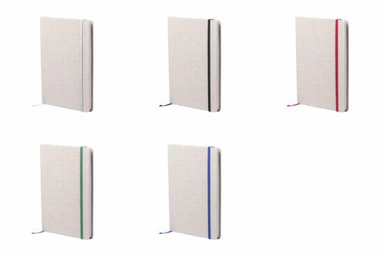 cores bloco de notas a5 com capas em algodão
