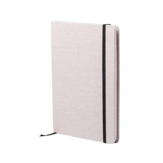 bloco de notas a5 preto com capas em algodão