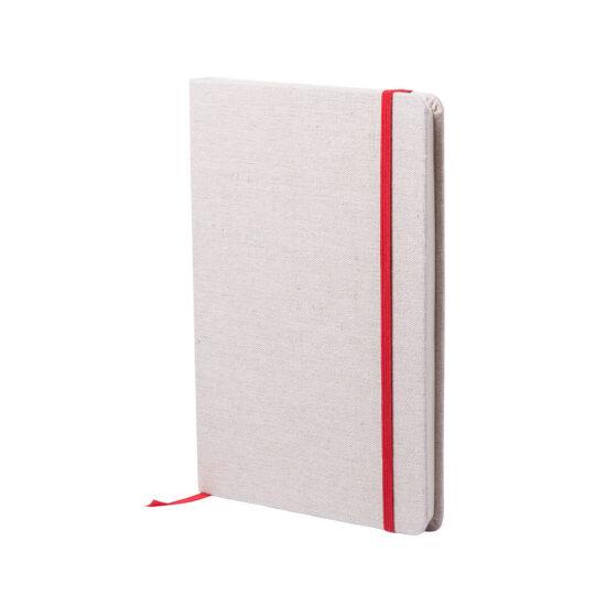 bloco de notas a5 vermelho com capas em algodão