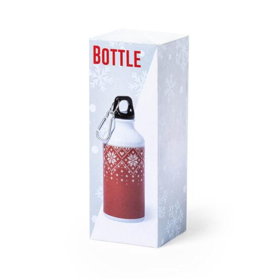 caixa de garrafa de alumínio natalícia