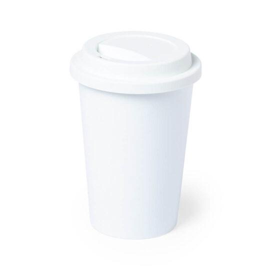 copo de pla compostável com tampa